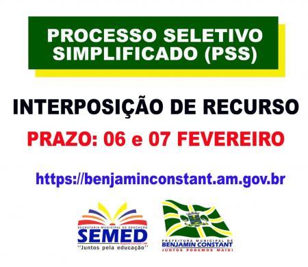 PSS 2020 - Interposição de Recurso