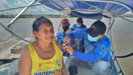 Equipe da saúde no interior do município