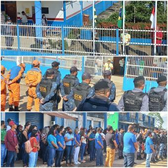 População, autoridades e instituições reunidas